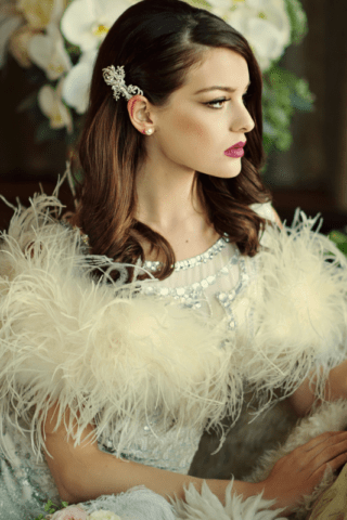 Ostrich Feather Stole 1350
